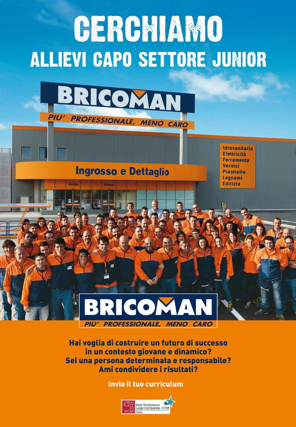 Offerte di lavoro di bricoman infojobs for Bricoman milano